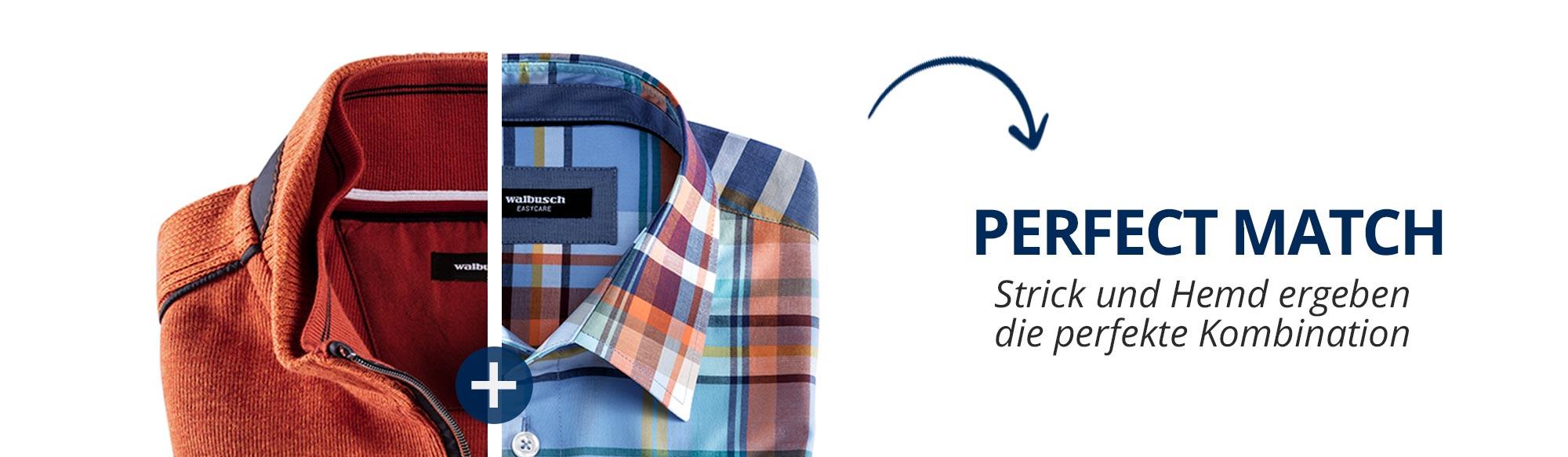 Perfect Match: Strick und Hemd ergeben die perfekte Kombiation