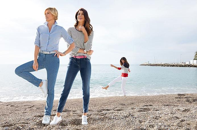 Stretch-Jeans für Damen mit einem cleveren Materialmix | Walbusch