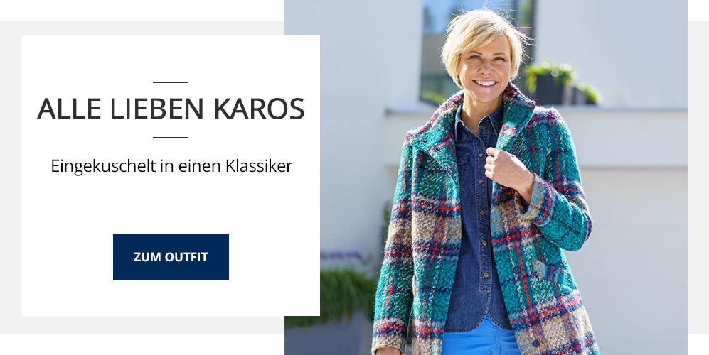 Outfit TV Karo-Wolljacke-Multicolor   Walbusch