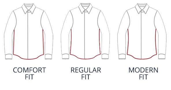 Passformen: Comfort Fit, Regular Fit, Modern Fit   Walbusch