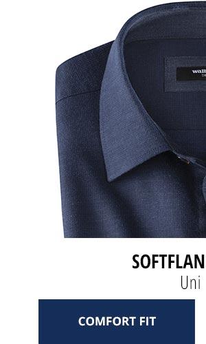 2 Softflanell-Hemden nur Fr. 99,90: Uni-Blau | Walbusch
