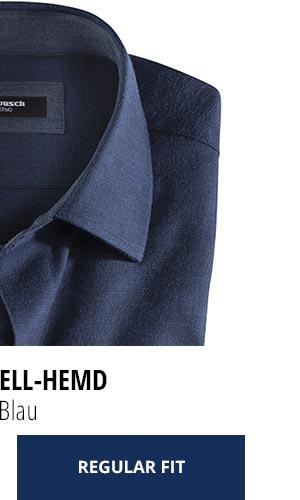 2 Softflanell-Hemden für nur Fr. 99,90: Uni Blau | Walbusch