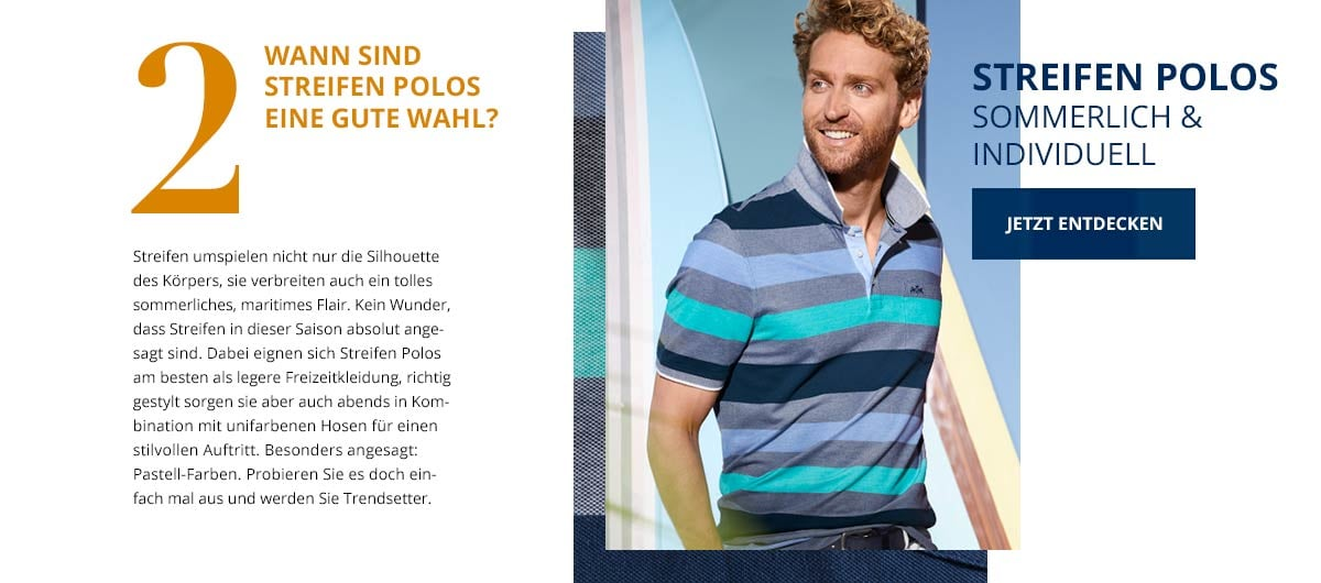 Streifen Polos | Walbusch