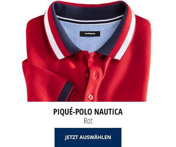 Piqué-Polo Nautica Rot   Walbusch