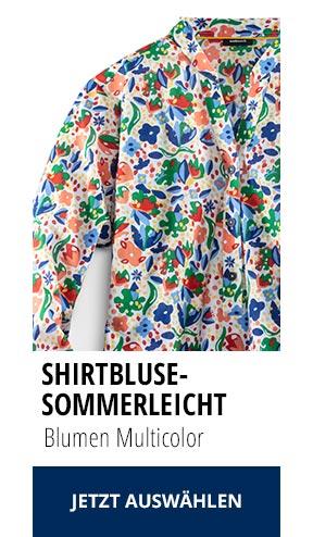 Shirtbluse Sommerleicht Blumen Multicolor | Walbusch