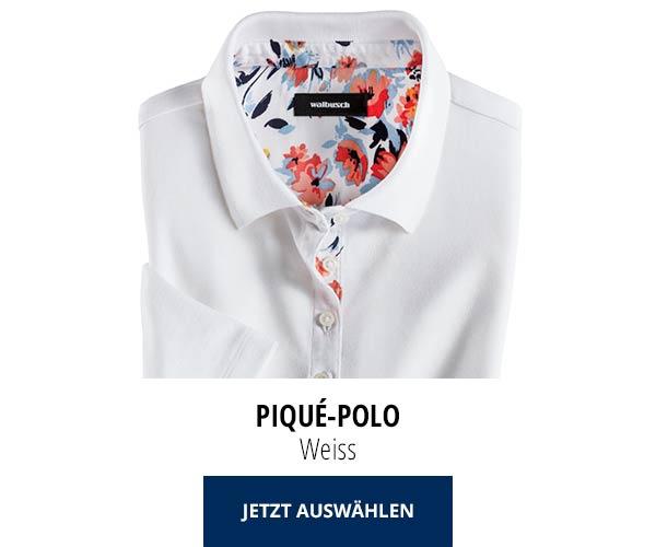 Piqué-Polo Sommer-Cotton Weiss | Walbusch