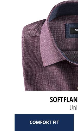 2 Softflanell-Hemden für nur Fr. 99,90: Uni Rot | Walbusch
