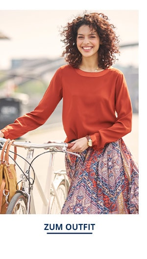 Outfit Trendfarben Seiden Shirtbluse | Walbusch