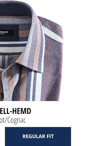 2 Softflanell-Hemden für nur Fr. 99,90: Streifen Rot/Cognac | Walbusch