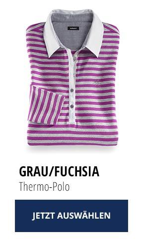 Jetzt testen: 2 Thermo-Polos nur Fr. 129,00: Grau/ Fuchsia | Walbusch