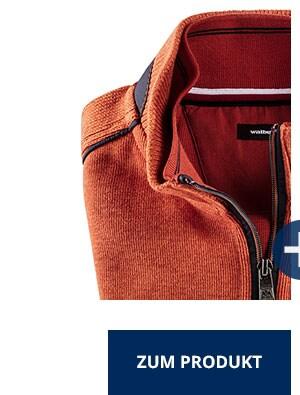 Wohlfühl-Pullover French-Rib, Orange