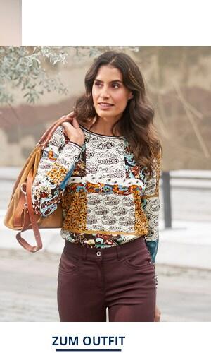 Outfit Trendmuster Viskose-Shirt | Walbusch