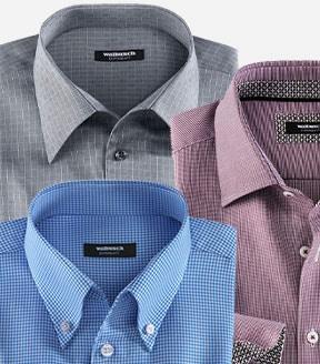Bügelfreie Hemden mit verschiedenen Kragenformen   Walbusch