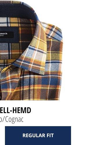 2 Softflanell-Hemden für nur Fr. 99,90: Karo Gelb/Cognac | Walbusch