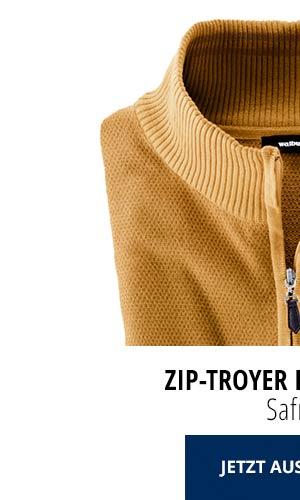 Zip-Troyer Herbstlaub - Safran | Walbusch