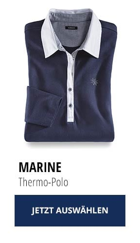 Jetzt testen: 2 Thermo-Polos nur Fr. 129,00: Marine | Walbusch