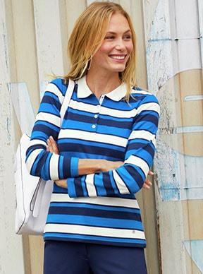 Poloshirts für Damen: Sportlichkeit des Shirts & Eleganz der Hemdbluse   Walbusch