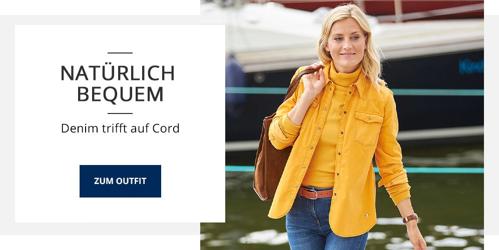Outfit Extra-Feincord-Bluse   Walbusch
