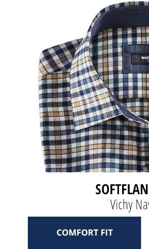 2 Softflanell-Hemden für nur Fr. 99,90: Vichy Navy/Petrol | Walbusch