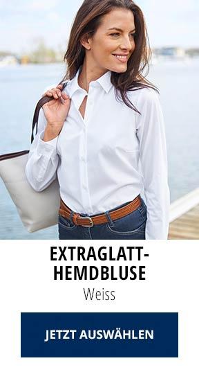 Extraglatt-Hemdbluse Weiss | Walbusch