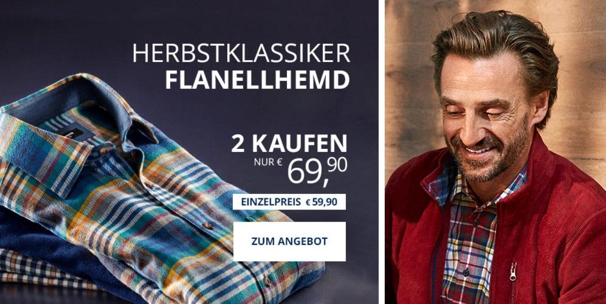 Angebot: 2 Flanellhemden   Walbusch