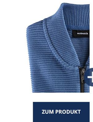 Zip-Jacke Ottoman, Mittelblau