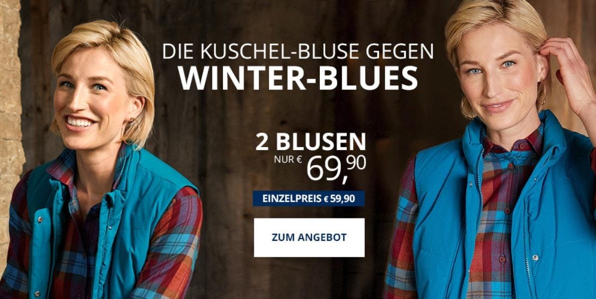 Angebot: 2 Flanellblusen   Walbusch