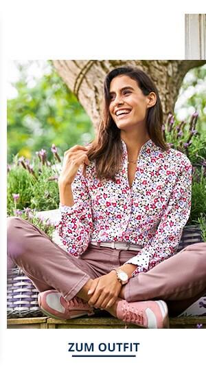 Outfit Trendfarben Extraglatt-Bluse-Kelchkragen | Walbusch