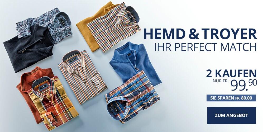 Perfect Match Pullover + Hemd | Walbusch