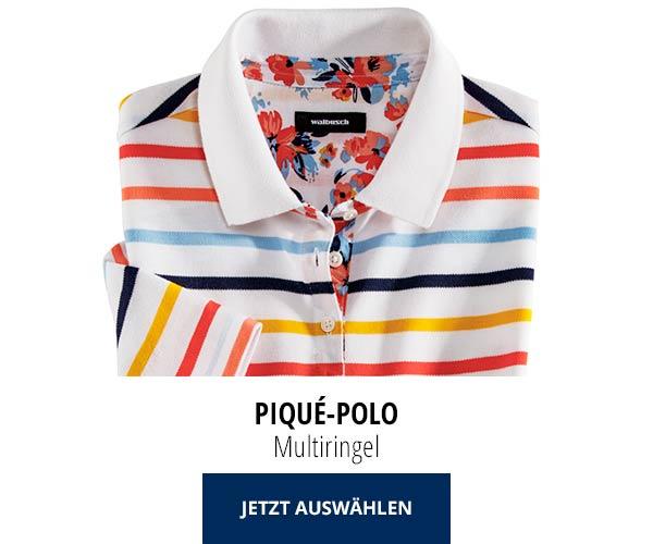 Piqué-Polo Sommer-Cotton Mulitringel | Walbusch