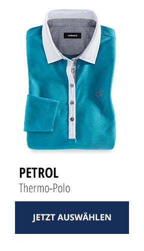 Jetzt testen: 2 Thermo-Polos nur Fr. 129,00: Petrol | Walbusch