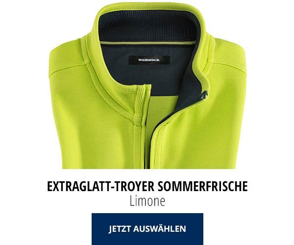 Extraglatt-Troyer Sommerfrische Limone | Walbusch