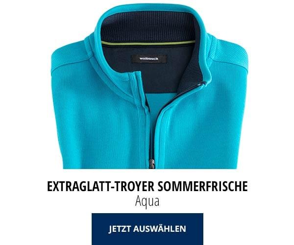 Extraglatt-Troyer Sommerfrische Aqua | Walbusch