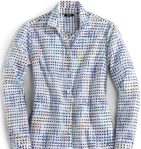 Karo, Tupfen oder Paisley: Gemusterte Blusen