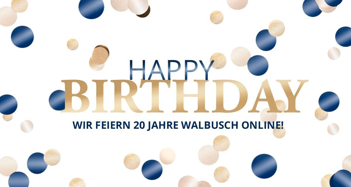 Jubiläum 20 Jahre Online