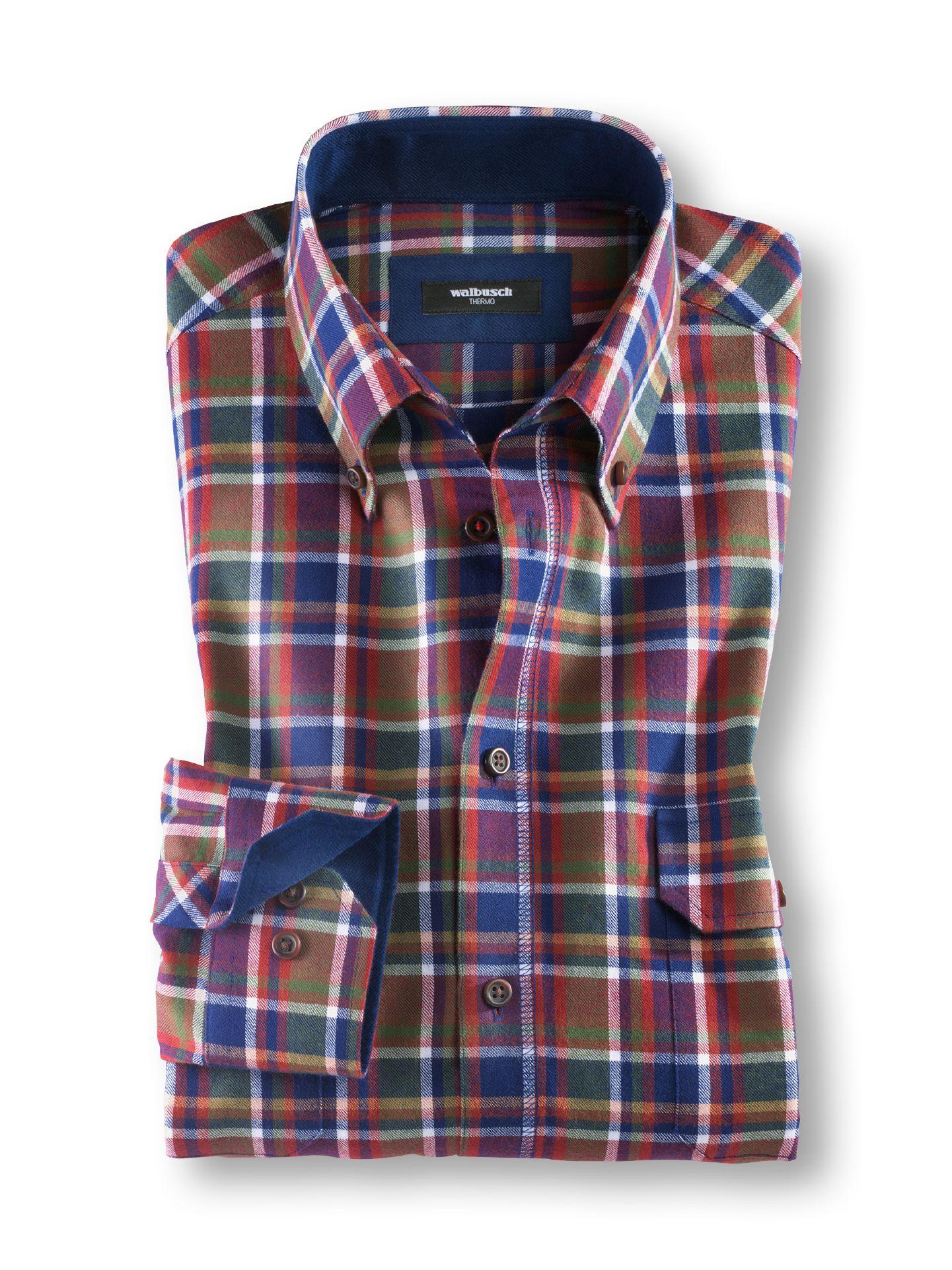 Softflanell hemd walbusch kragen im online shop bequem kaufen walbusch - Herren hemd ohne kragen ...