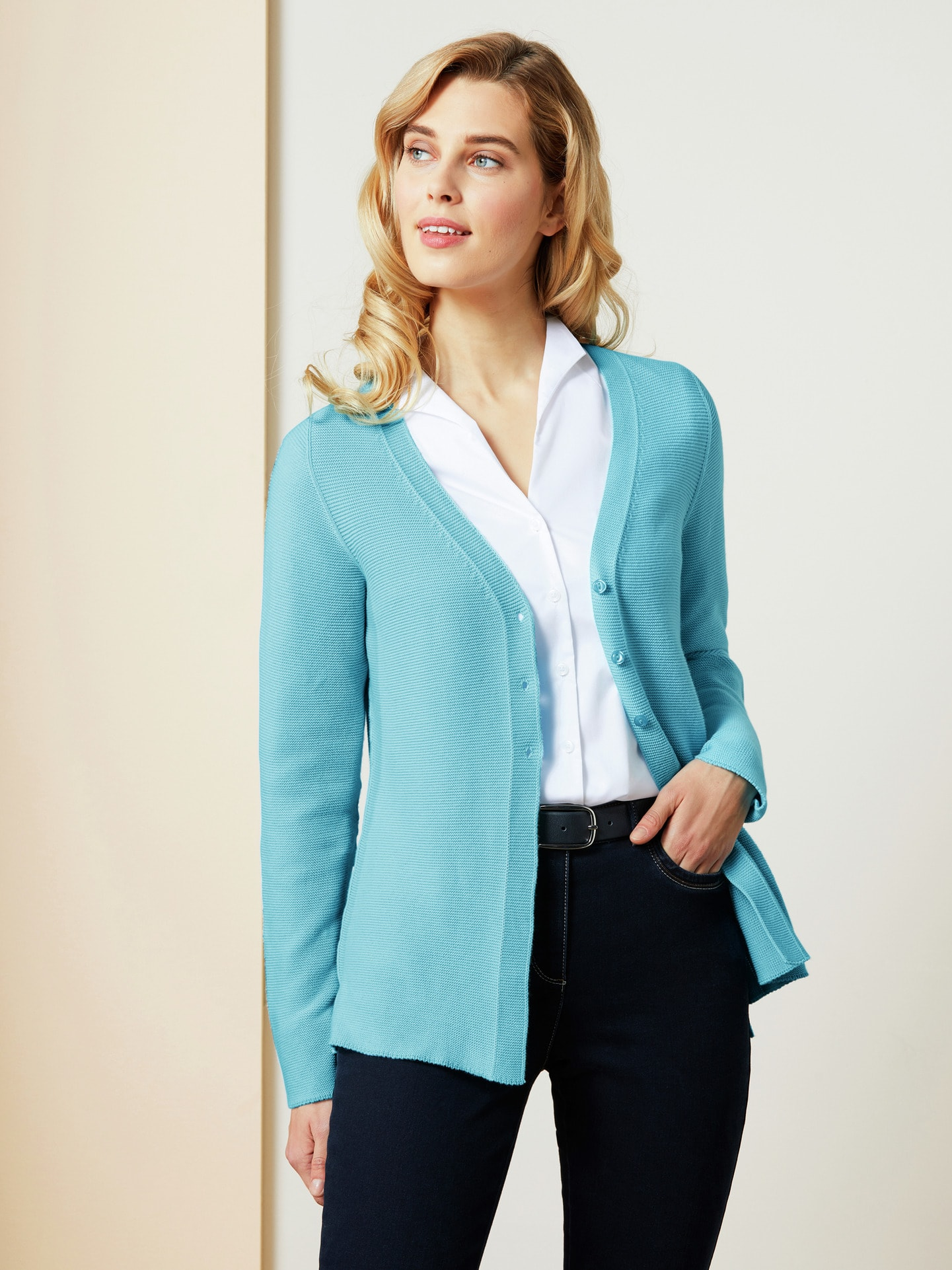 Image of Cardigan Cotton Crepe