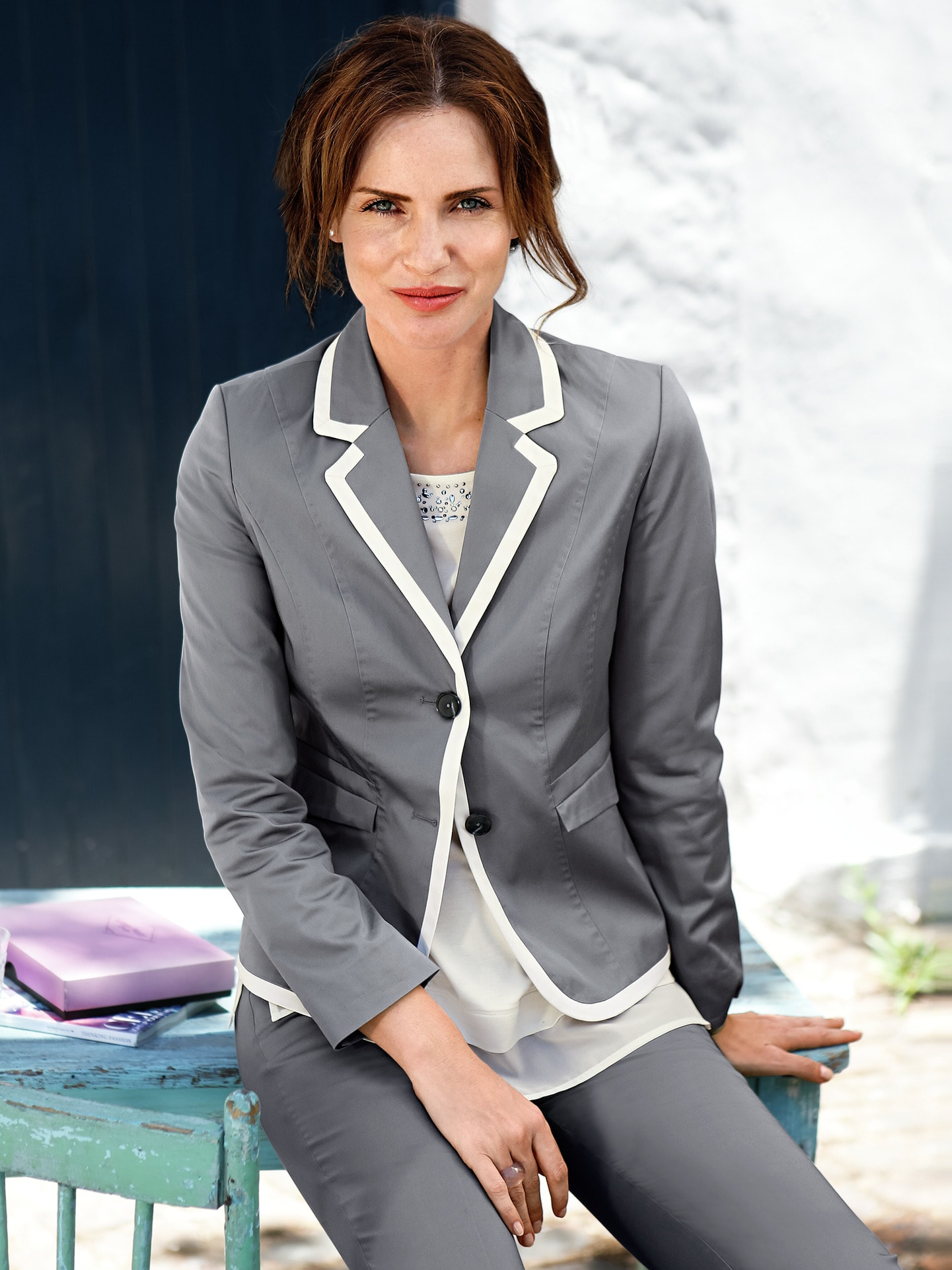 Image of Betty Barclay Baumwollsatin Blazer