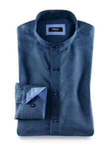 Extraglatt Stehkragen-Hemd