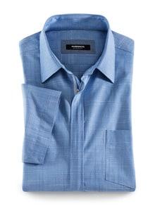 Reißverschluss-Hemd Tropical Blau Detail 1