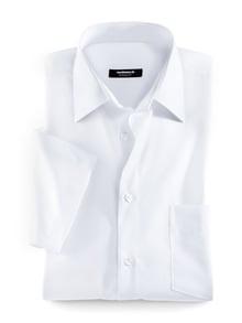 Extraglatt-Hemd Kent-Kragen Weiß Detail 1