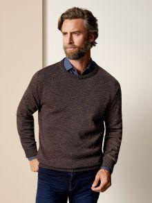 Rundhals-Pullover Farbeffekt