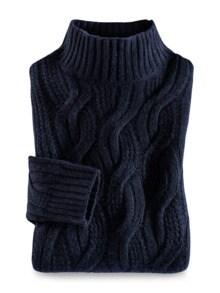 Zopfstrick-Pullover Baby Alpaka