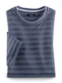 Extraglatt-Shirt Jacquard Streifen