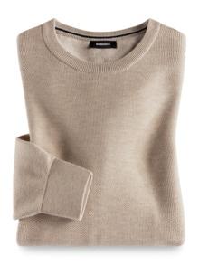 Struktur-Pullover Soft Cotton Sand Detail 1