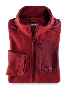 Klepper Microfleece-Jacke Rot Detail 1