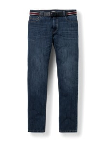 Gürtel-Jeans Modern Fit Dark Blue Detail 1