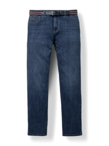 Gürtel-Jeans Regular Fit Dark Blue Detail 1