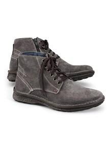 Reißverschluss-Velours-Stiefel