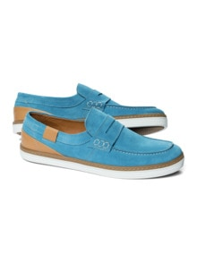 Sport Loafer Ozeanblau Detail 1
